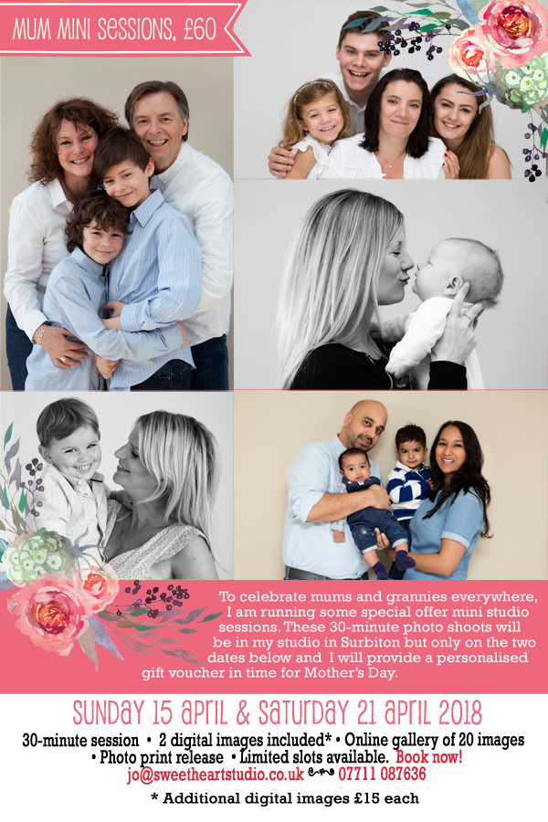 mothers day photo sessions 2018