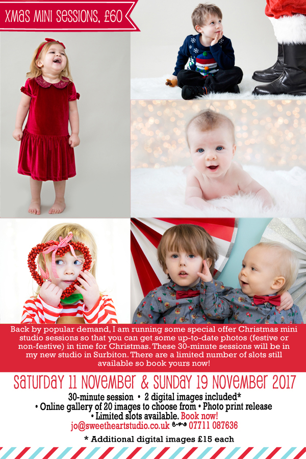 christmas photo sessions in kingston and surbiton