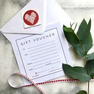 gift voucher for photo shoot sweetheart studio