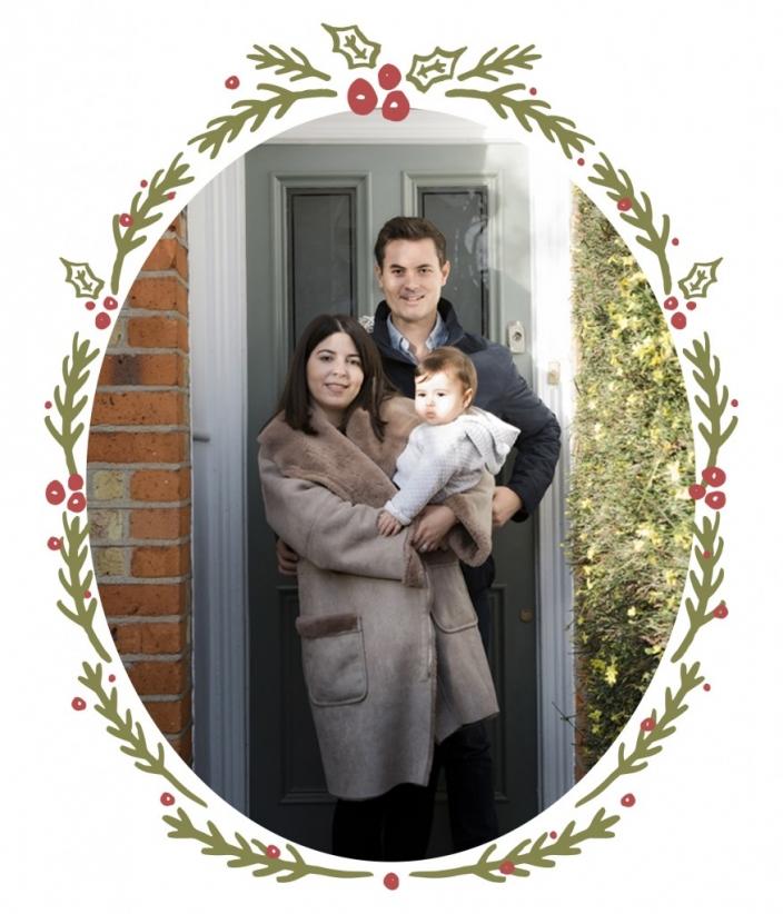 festive doorstep photos for charity